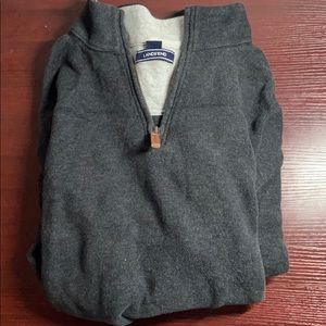 Lands End gray quarter zip